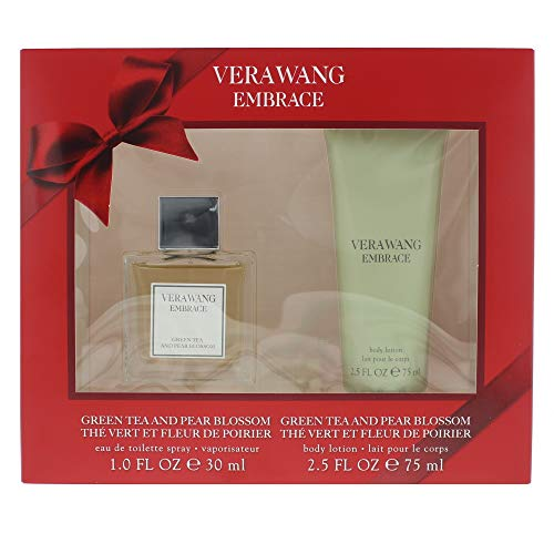 Vera Wang Embrace Eau de Toilette Fragranza per le Donne Tè Verde e Fiore di Pera, 30 ml e lozione per il corpo 75ml