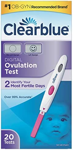 Clearblue Digital Ovulation Predictor Kit, featuring Ovulation Test with digital results, 20 Digital Ovulation Tests