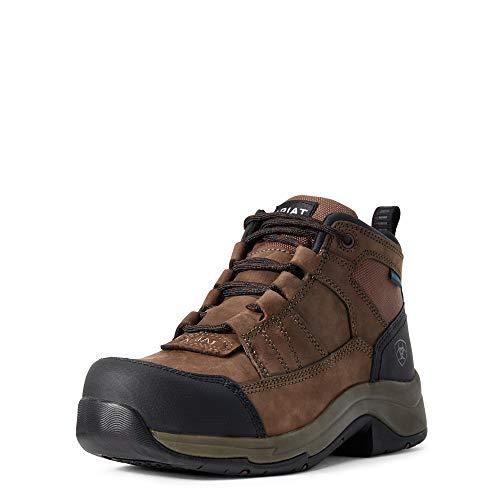 ARIAT Womens Telluride Work H20 Water Hydration CT Boots Distressed Brown - Waterproof Sprayproof - Shock-absorbing EVA