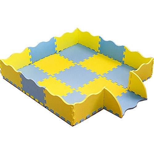 YUEWANG-Tapis Enfant Tapis Puzzle en Mousse Lavable Coloré Antidérapant Durable Mou Inodore Multifonction Plancher Protecteur Jardin d'enfants Salle De Danse Chambre (Color : B, Size : 30x30x1.4cm)