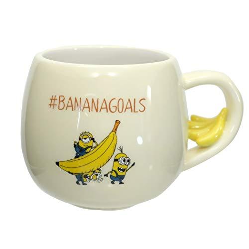 サンアート ディズニー 「ミニオンズ」 フィギュア付き マグカップ バナナ SAN3335-2 クリーム 300ミリリットル