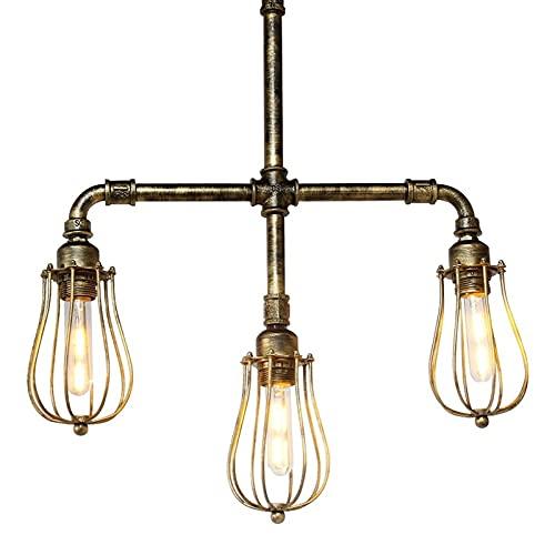 Archivo de iluminación de araña Edison colgante luz e27 lámpara creativa agua tubo loft arte araña araña restaurante café barra tienda tienda decoración lámpara de techo retro industrial bronce colgan