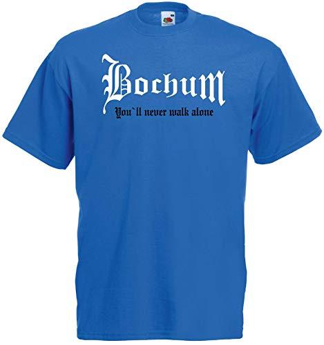 Bochum Herren T-Shirt You`ll Never Walk Alone Blau XXXL