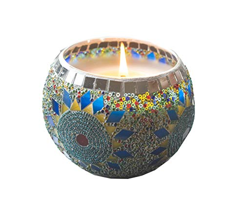Frespersy Vela perfumada en tarro de cristal para mujer, cera de soja natural (lavanda)
