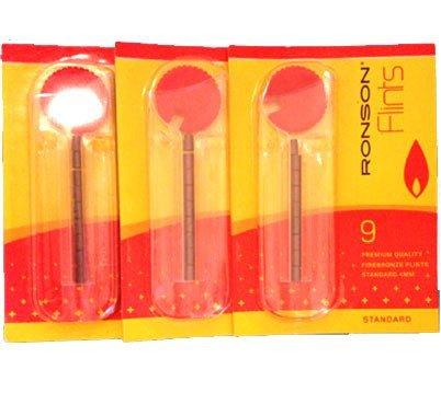 3x Ronson Feuerzeug Feuersteine–Pack of 9–Standard von Packungen