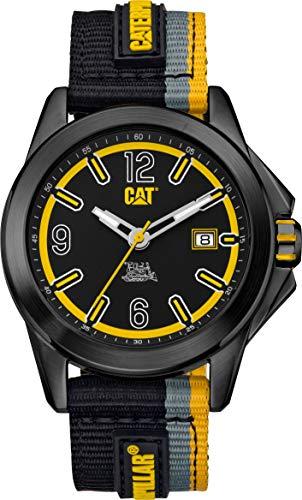 Caterpillar YU16161137 Reloj Caterpillar para Hombre de Nylon for Hombre, Negro, Hombre Estándar