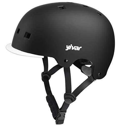 YIVAR Kinder-Fahrradhelm, verstellbar, Skateboard-Helm mit abnehmbarem Visier für Roller, Radfahren, Skaten, 8–13 Jahre alte Jungen und Mädchen