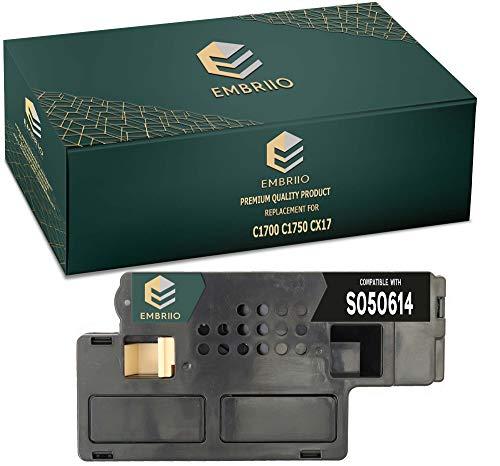 EMBRIIO S050614 Negro Cartucho Tóner Reemplazo para Epson AcuLaser C1700 C1750N C1750W CX17 CX17NF CX17WF