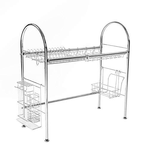 Plates Bowls Storage Rack Stainless Steel Dish Drainer Shelf Cooking Tools Holder Organizer