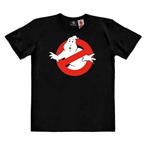 Logoshirt®️ Pelicula Los Cazafantasmas Logo Camiseta ecológico Estampado para niños I Negro Cuello Redondo de Manga Corta I Diseño Original con Licencia I Algodón