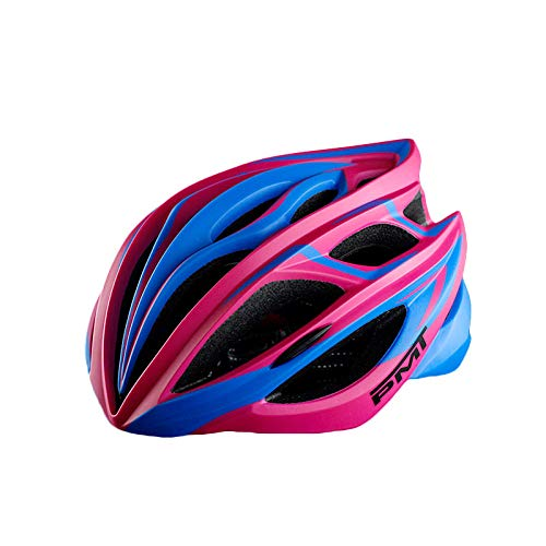 Helmet mountain bike road cycling light riding hat men and women one-piece outdoor sports-M_Rose Red Blue M Code
