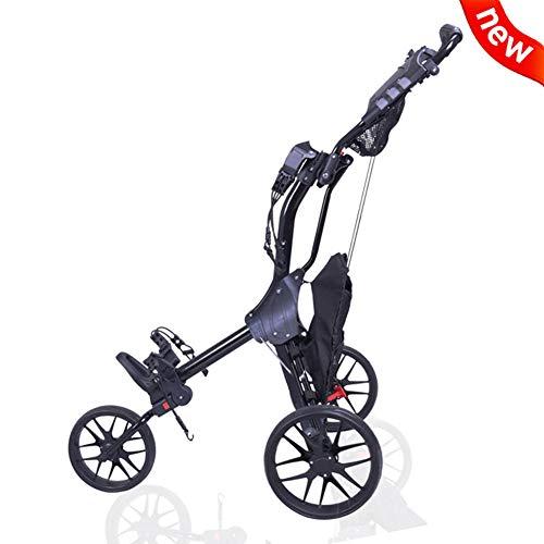 Golf Cart, Opvouwbare Golf Trolley 3 Wiel Golf Push Cart Met Foot Brake, Simple Openen En Sluiten Folding Cart, Golf Bolderkar