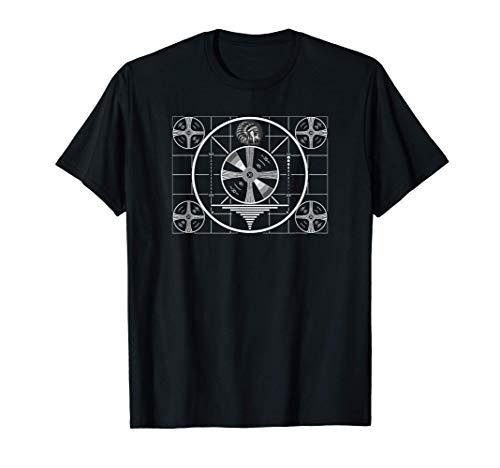 Funny Nerdy Sheldon TV Indian Test Pattern BW Gift T-Shirt