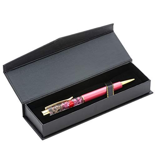 (ファンファン) &Herba ハーバリウム ボールペン 花 ギフト プレゼントおしゃれ ピンク 完成品 箱 BOX付き