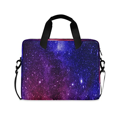 Laptop Bag Galaxy Laptop Case Computer Carrying Case 13-15.6 inch Laptop Sleeve Case Polyester Laptop Shoulder Bag Strap Handle Notebook Computer Bag for Boys Girls Women Men