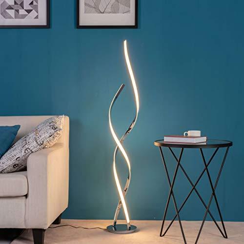 KOSILUM - Lampadaire LED Ultra Design - 126 cm Cascada - Lumière Blanc Chaud Eclairage Salon Chambre Cuisine Couloir - 24W - 1920 lm - LED intégrée - IP20