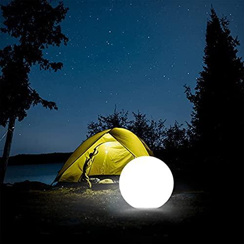 AHURGND Luces de la Piscina flotantes, LED Vibrant Light Ball, Luz Solar LED, Luz de Noche, sin Cable de 12 Pulgadas, con Colores remotos, 16 RGB Colores y 4 Modos, para Flotar o Colgar en la Piscina