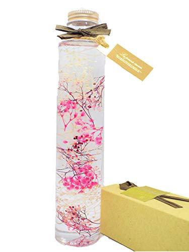 【Amazon.co.jp 限定】ハーバリウム プリザーブドフラワーLira 高さ21.5cm かすみ草(ピンク)