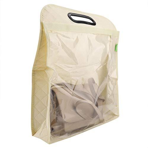 Con foro appeso antipolvere armadio custodia per la famiglia tenere pulito organizzatore beige (WL)