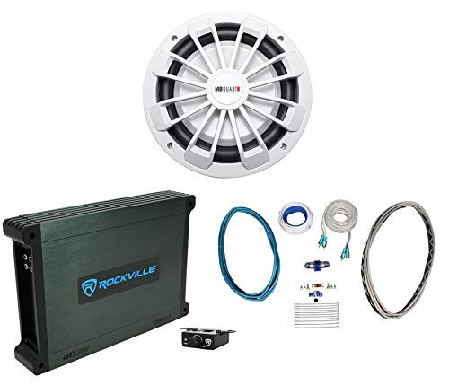 "MB Quart NW1-254 10"" 600w Slim Marine Subwoofer Sub+Mono Amplifier+Amp Kit"