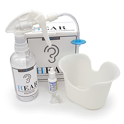 Hear Earwax Removal Kit from Equadose. Assembled in USA. Ear Wax Remover for Ear Cleaning and Irrigation.