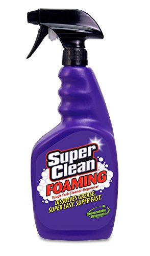 Super Clean Foaming Multi-Surface All Purpose Cleaner Degreaser Spray, Biodegradable, Full Concentrate, 32 ounce