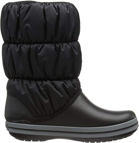 Crocs Winter Puff Boot Women, Damen Schneestiefel, Schwarz (Black/Charcoal), 38/39 EU