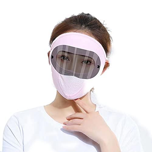 Gafas de protección solar máscara de lente puede ser desmontable hombres y mujeres verano anti-ultravioleta máscara de ciclismo se puede ajustar en tamaño