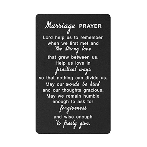 Marriage Prayer Card Gifts, Unique Wedding Anniversary Love Gifts for...
