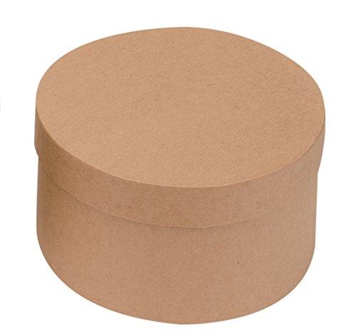 GLOREX 62028180Redondo Caja, cartón, Natural, 18x 18x 9.5cm