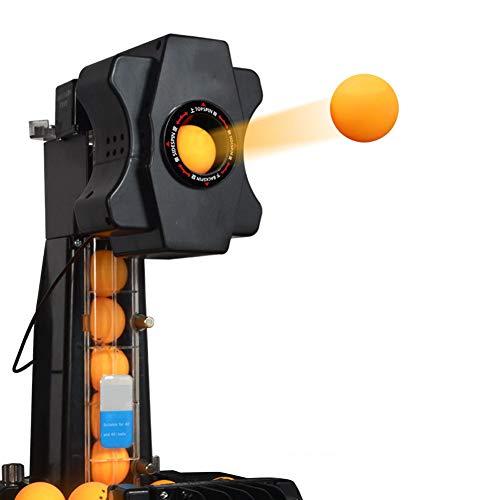 IOIOA Ping-Pong-Schulungsroboter mit Fangnetz, Tischtennis Roboter Multi-Angel automatischen Ping-Pong-Maschine mit 36 verschiedenen Spin-Bällen für Üben Home School Gym