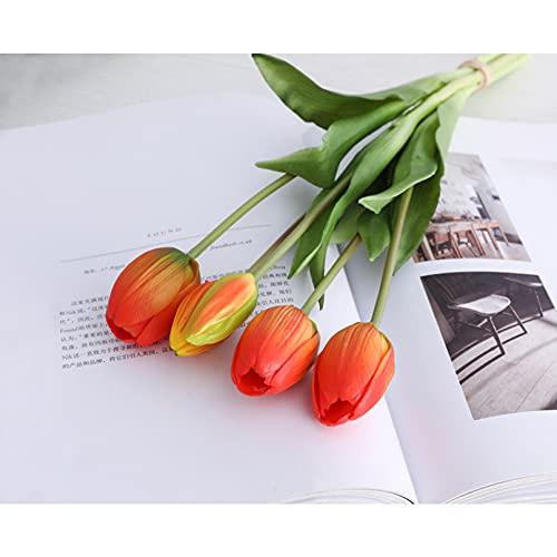 VIOYO Ramo de Tulipanes de Tacto Real de Silicona Flores Artificiales Decorativas decoración de Sala de Estar Flores Artificiales