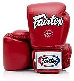 Fairtex Tight Fit Guantoni da boxe in pelle rossa.