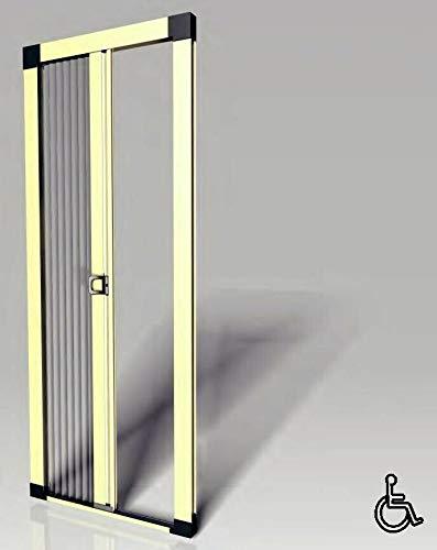 Zanzariera a rete Plissettata, plissè, in alluminio per porte balconi, varie misure e colori, made in italy (L 140 x H 250)