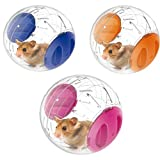 1PC Home Pet Funny Running Ball Plastic Grounder Jogging Hamster Pet Small Exercise Toy, 12cm