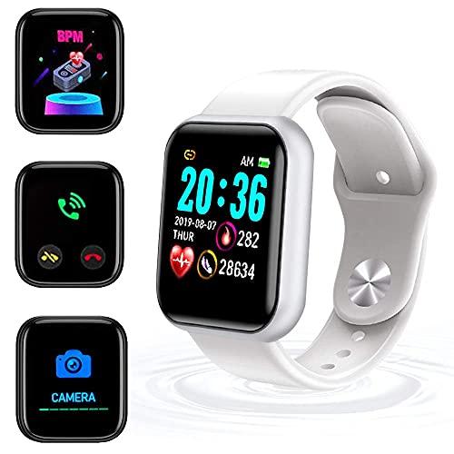 XIKUO, Reloj Inteligente Impermeable IP65, Natación Impermeable Smartwatch Fitness Tracker Reloj Fitness Monitor de Ritmo cardíaco Relojes Inteligentes, para Hombres Mujeres Ni & ntilde; os