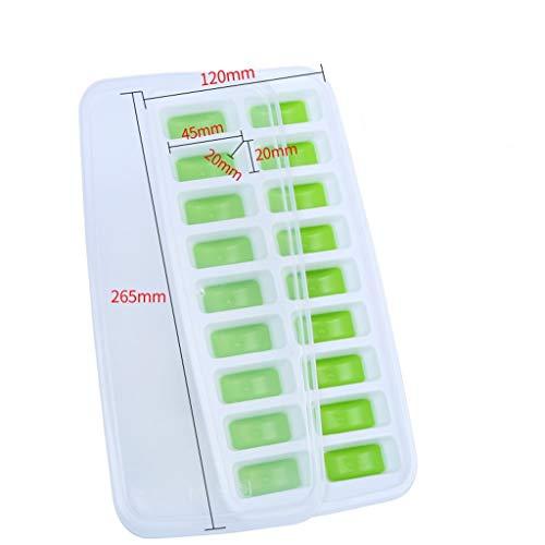 NIBABA Bandeja de Hielo de Silicona Conveniente Cubos de Hielo de 18 Cajas Pudín Creativo en Forma de Pastel Cubos de Hielo de Grado alimenticio Silicona Bebé Comida para bebés Cajas Moldes de Hielo