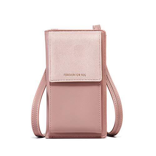 ADKX Crossbody Geldbörse Geldbeutel Handtasche Klein, Umhängetasche Damen Cross Body Women Phone Bag Handytasche Kreditkartenhalter Tasche für Frauen,Mädchen (Pink)