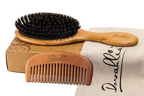 Boar Bristle Hair Brush Set for Women and Men