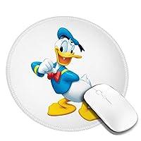 自分のドナルドダックを指している マウスパッド 円形 おしゃれ 高級感 ゲーミング オフィス最適 滑り止めゴム底 耐久性が良 付着力が強い 直径20cmx厚い0.3cm