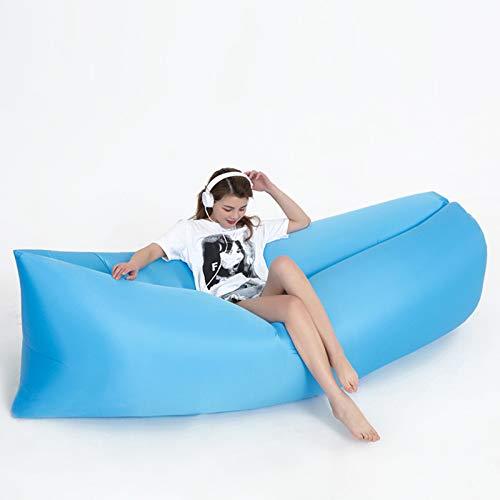 XUE-SHELF Aufblasbare Liege, Luftstuhl, Schlafsack, Couch für Strand, Camping, See, Garten, Himmelblau