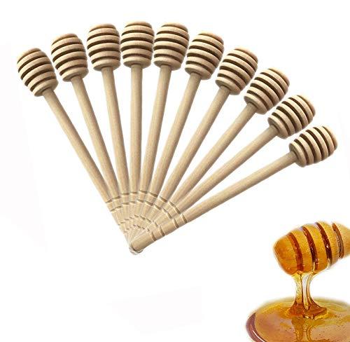 50 piezas de madera de miel para recoger mermeladas de regateo portátil para bodas (6 pulgadas)