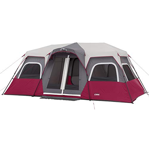 CORE 12 Person Instant Cabin Tent (Wine)
