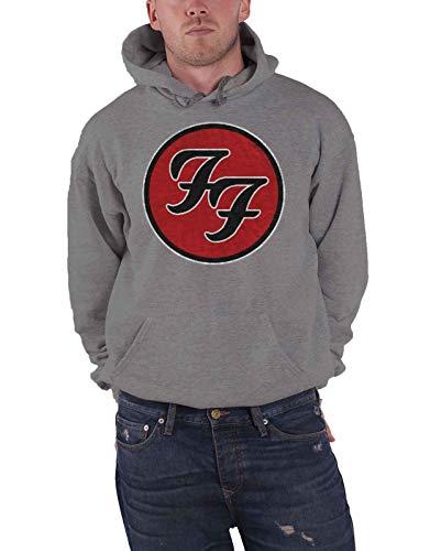 Rock Off Foo Fighters Capucha FF Band Logo Nuevo Oficial De Los Hombres Gris Pullover Size XXL