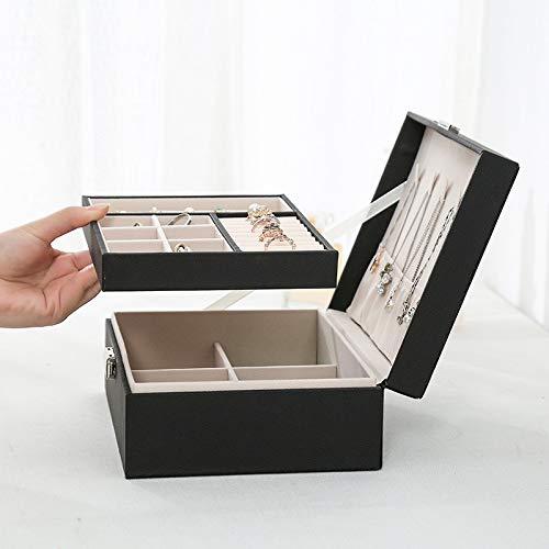 Joyero La Nueva Caja De Anillos Caja De Pendientes De Doble Capa Estuches De Joyería De Cuero Moda Y Exhibiciones 2021