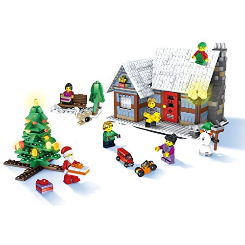 QYGGGAssembling Spielzeug Montage Spielzeug JJR/C 1002 936 in 1 DIY Weihnachtsdorf Building Blocks Set, EN71 / 7P Certified