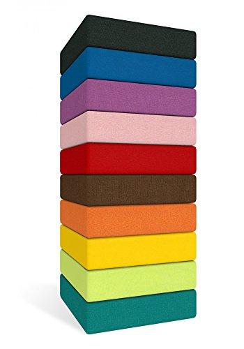 bettwaren-shop kneer 2501465 – drap housse 140/200 cm 38 Turquoise