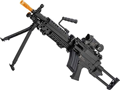 Evike Airsoft - Cybergun FN Licensed M249 para Featherweight Airsoft Machine Gun (Model: Standard)