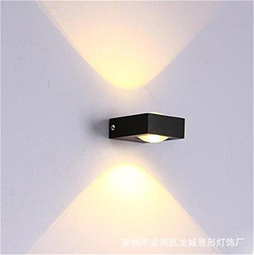 Amadoierly Lampe Murale à LED Piscine Salon Chambre à coucher moderne minimaliste de chevet aluminium Création lumières allée/80x60x35mm,Lumière chaude