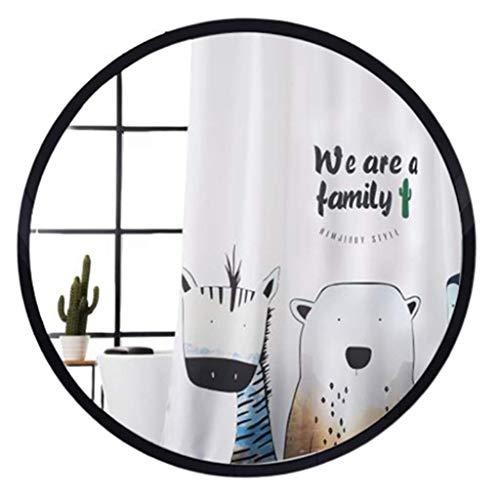 DCLINA Espejo Maquillaje Baño Espejo Maquillaje Pared Circular Colgante Pared/Lavado Europeo 40/50/60/70/80cm HD Mesa Vidrio Accesorios para baños